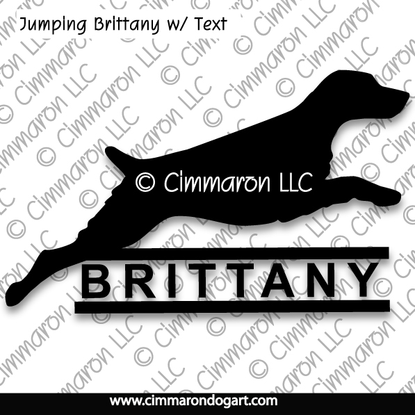 britt010t - Brittany Jumping with Text T-Shirt