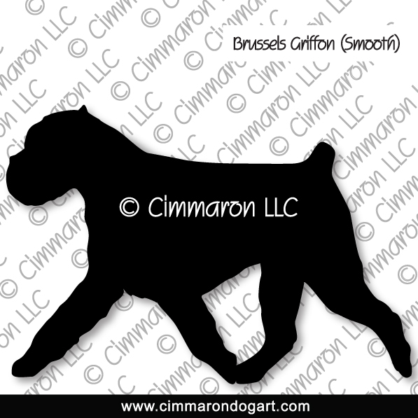 brusgr006d - Brussels Griffon Smooth Gaiting Silhouette Stickers