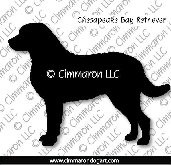 chessie001d - Chesapeake Bay Retriever Silhouette Sticker - Decal