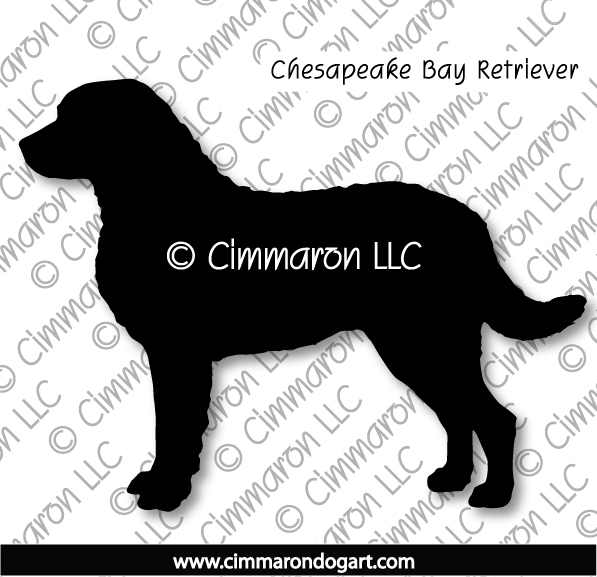 chessie002d - Chesapeake Bay Retriever Standing Sticker - Decal