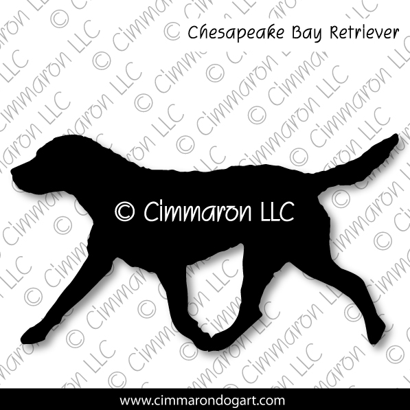 chessie003d - Chesapeake Bay Retriever Gaiting Sticker - Decal