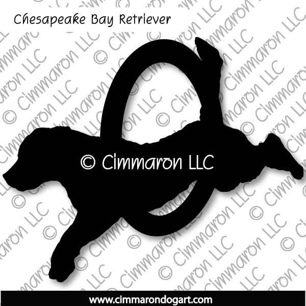 chessie004d - Chesapeake Bay Retriever Agility Sticker - Decal