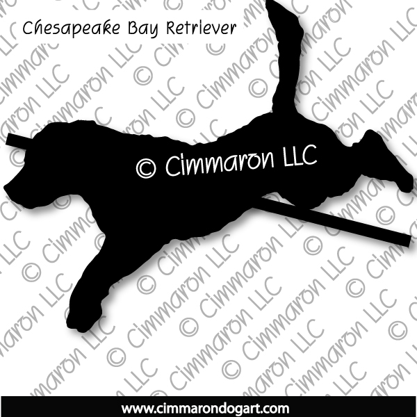 chessie005d - Chesapeake Bay Retriever Jumping Sticker - Decal
