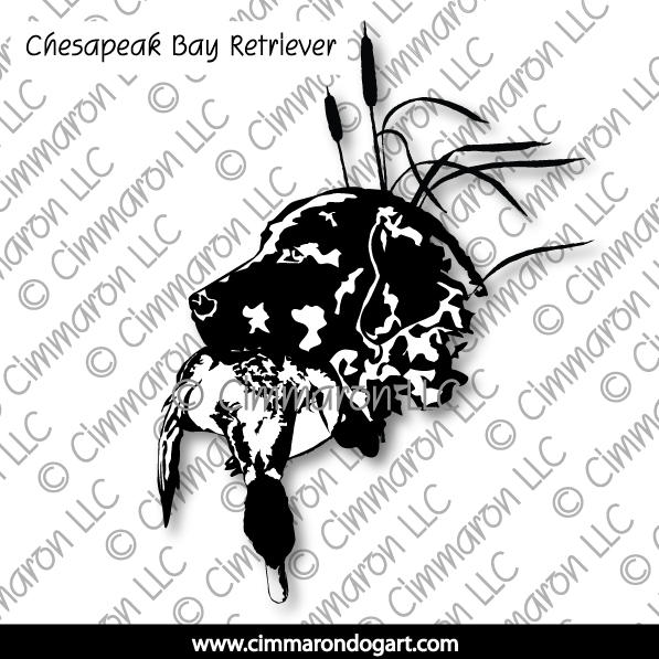 chessie006d - Chesapeake Bay Retriever Retrieve Sticker - Decal