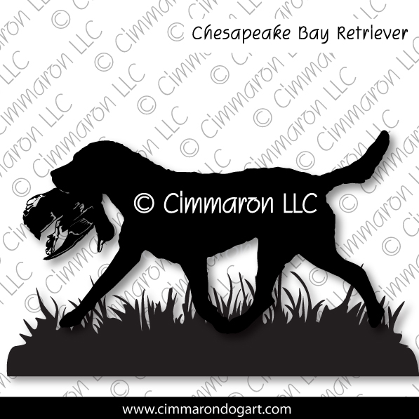 chessie007d - Chesapeake Bay Field Field Sticker - Decal
