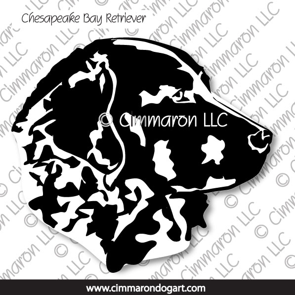 chessie008d - Chesapeake Bay Retriever Line Drawing Sticker - Decal