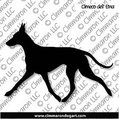 Cirneco dell' Etna Gaiting Sticker - Decal