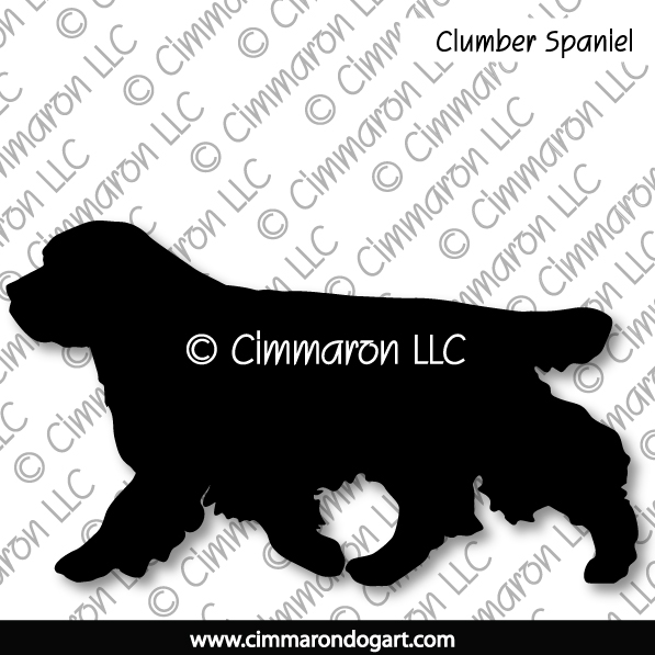 clumber002ls - Clumber Spaniel Gaiting Long Sleeved T