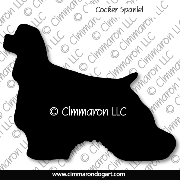 cocker001d - Cocker Spaniel Silhouette Sticker - Decal
