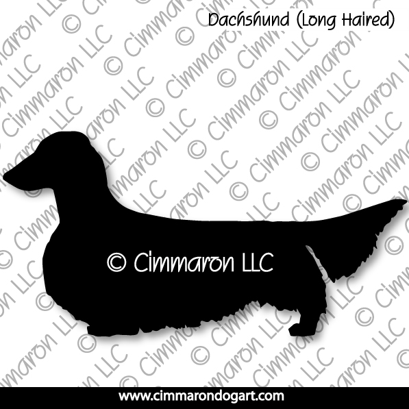 doxie010s - Dachshund (Long Hair) Silhouette Sweatshirt