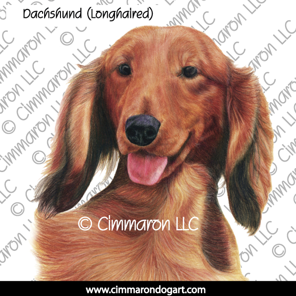 doxie015s - Dachshund (Long Hair) Tri Line Drawing Sweatshirt