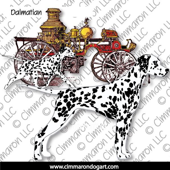 dal010n - Dalmatian Fire Engine Note Cards