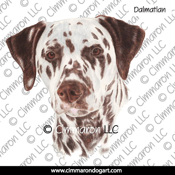 dal017n - Dalmatian Head Note Cards