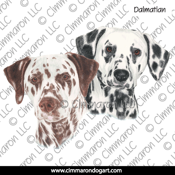 dal018n - Dalmatian Pair Note Cards