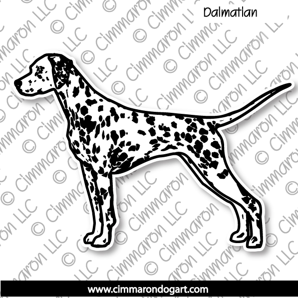 dal002n - Dalmatian Gaiting Note Cards