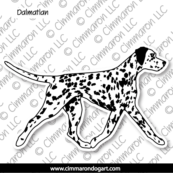 dal004n - Dalmatian Jumping Note Cards