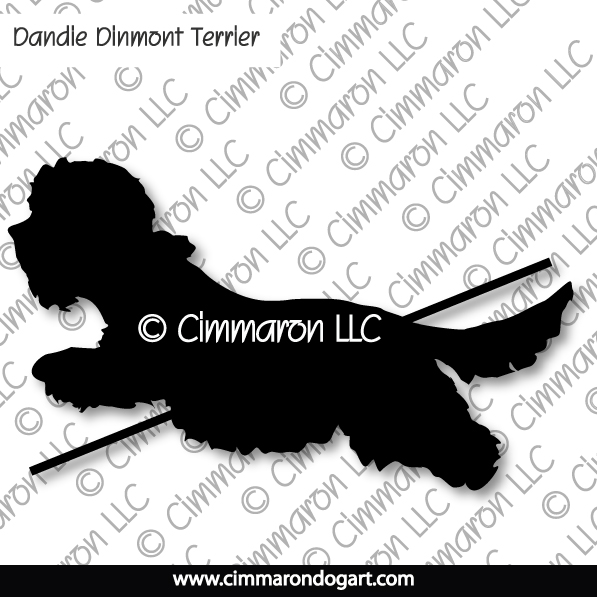 dandi004ls - Dandie Dinmont  Terrier Jumping Long Sleeved T