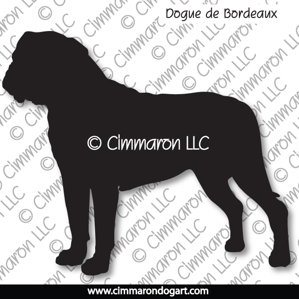 doguede002n - Dogue de Bordeaux Standing Note Cards
