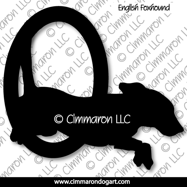 enfox003d - English Foxhound Agility Decals