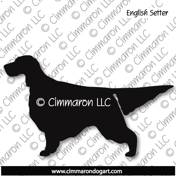 es001d - English Setter Silhouette Sticker - Decal