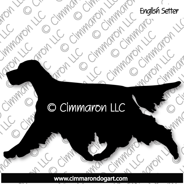 es002d - English Setter Gaiting Silhouette Sticker - Decal