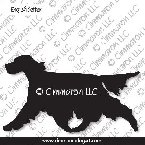es003d - English Setter Moving Silhouette Sticker - Decal