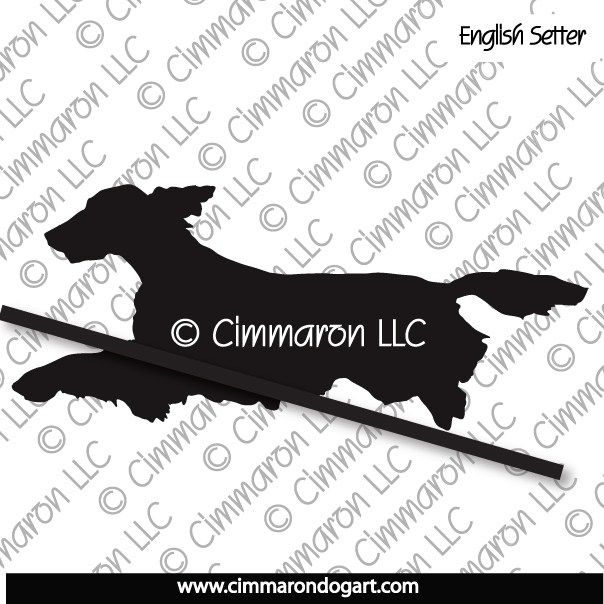 es005d - English Setter Jumping Decal
