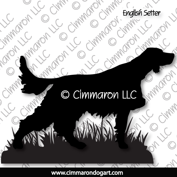 es007d - English Setter Pointing Sticker - Decal