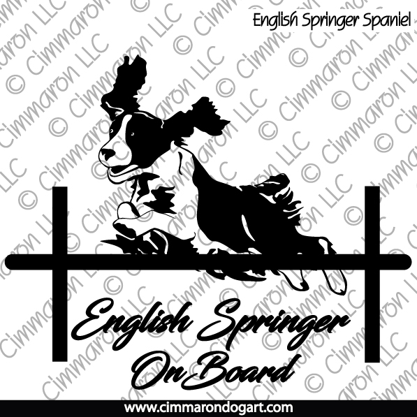 ess008h - English Springer Spaniel On Board Hoodie