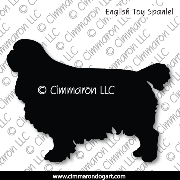 english-toy001d - English Toy Spaniel Silhouette Stickers