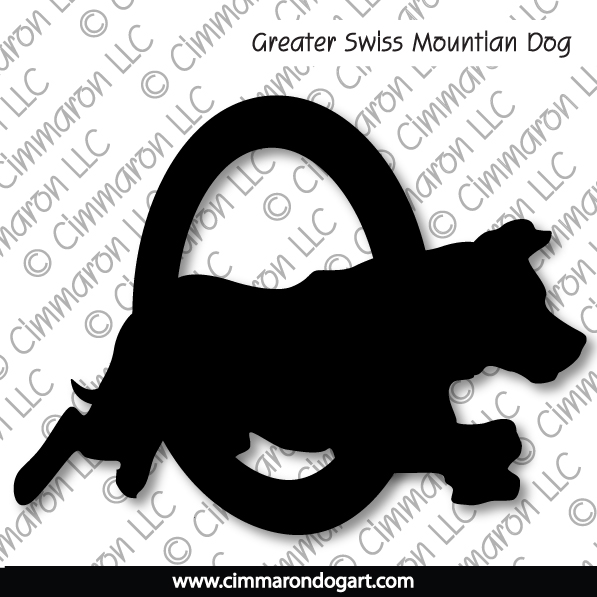 gsmd006t - Greater Swiss Mountain Dog Agility T-Shirt