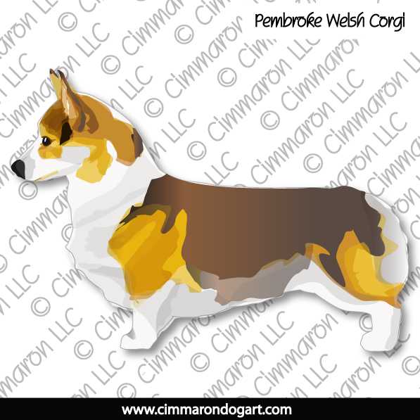 corgi010tote - Corgi-Pembroke Tri Color Sticker Tote Bag