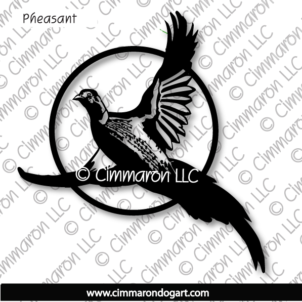 002pheas - Pheasant Decal