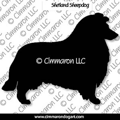 Shetland Sheepdog Silhouette Note Cards